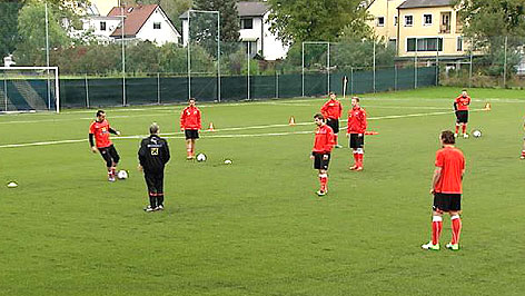 Nationalteam beim Training in Bad Tatzmannsdorf